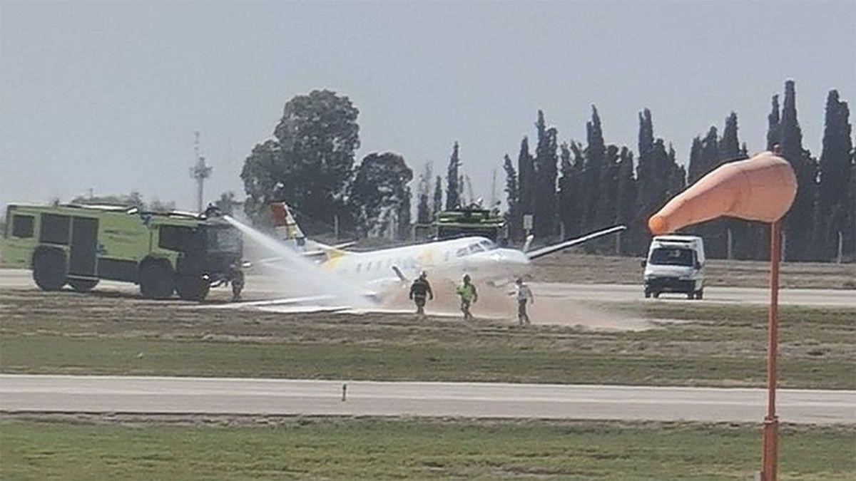 Despistó un avión en el aeropuerto de Mendoza. Foto: Gentileza Matías Jalaf