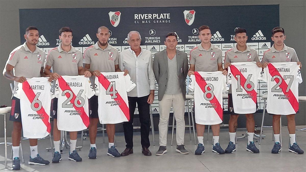 Gallardo le dio la bienvenida a los seis refuerzos de River