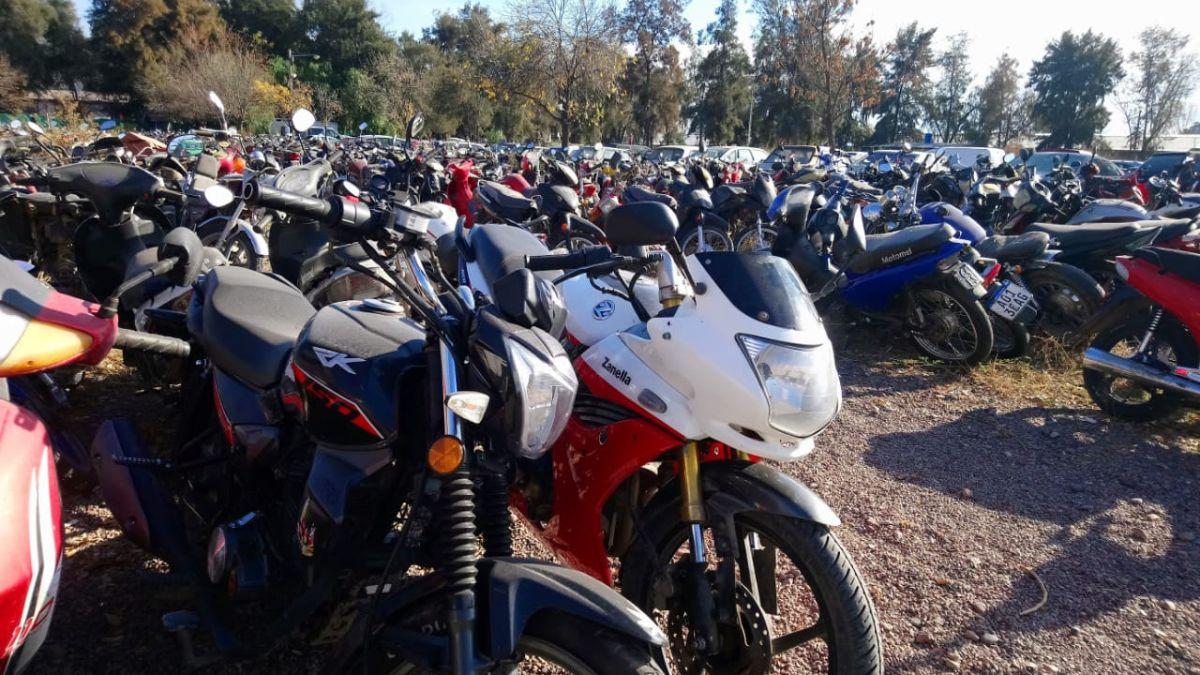 Desde este jueves se exhibirán 57 motocicletas que están detenidas en la playa de secuestros de la Municipalidad de Godoy Cruz por diversas faltas a la Ley 9024