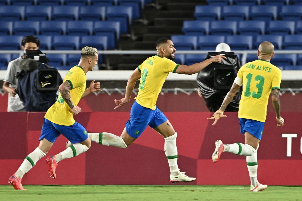 Brasil festejó en el fútbol de los Juegos Olímpicos 2021.