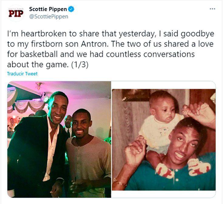 Scottie Pippen conmovió a todos con un doloroso mensaje