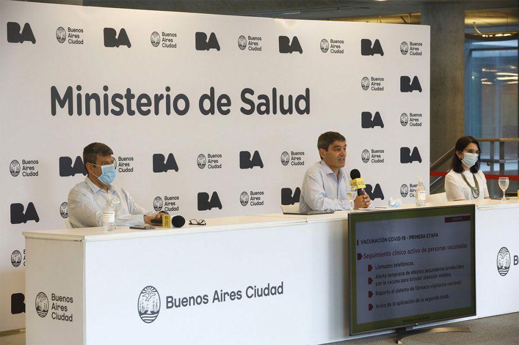 Fernán Quirós confirmó que en la ciudad de Buenos Aires se duplicaron los casos por coronavirus. Seguirán de cerca a quienes vacunan con la Sputnik V. Foto: NA.