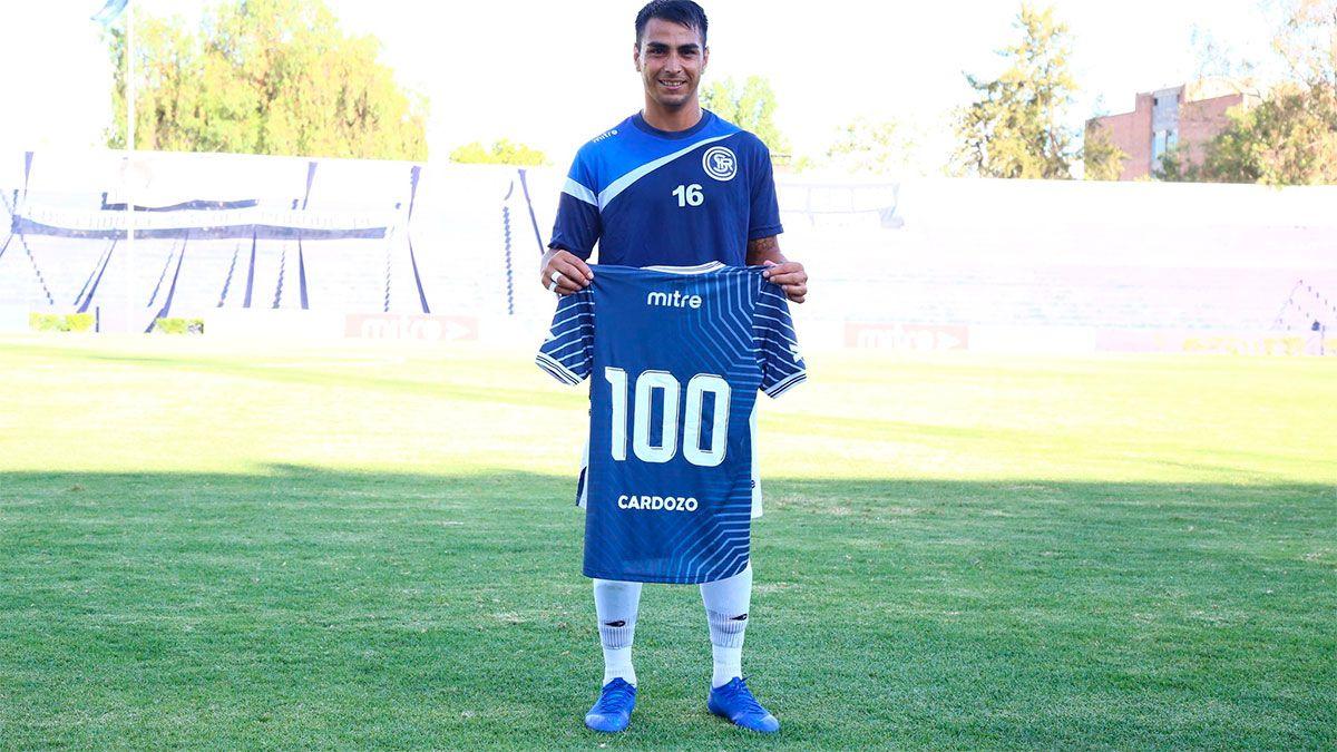 Diego Cardozo alcanzó los 100 partidos en la Lepra