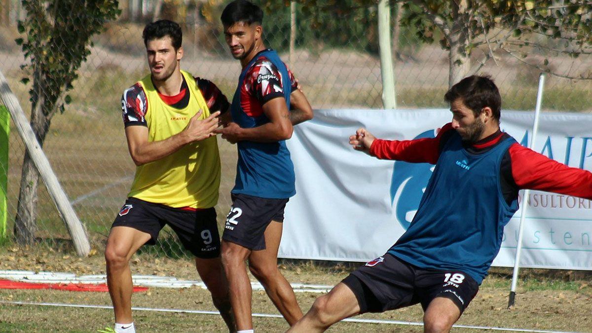 Deportivo Maipú volvió a las prácticas en forma presencial.