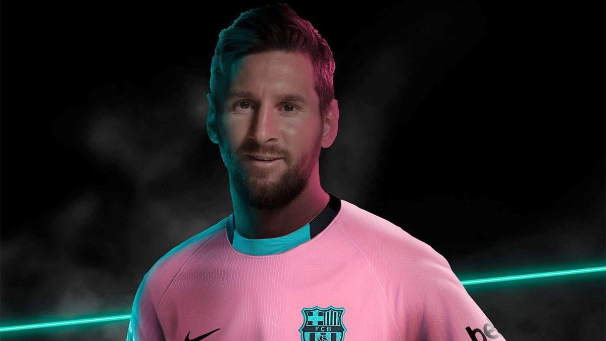 Barcelona, con Messi como modelo, presentó su nueva camiseta