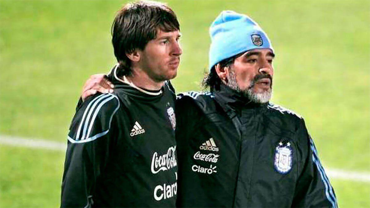 Messi y un sentido mensaje para Maradona
