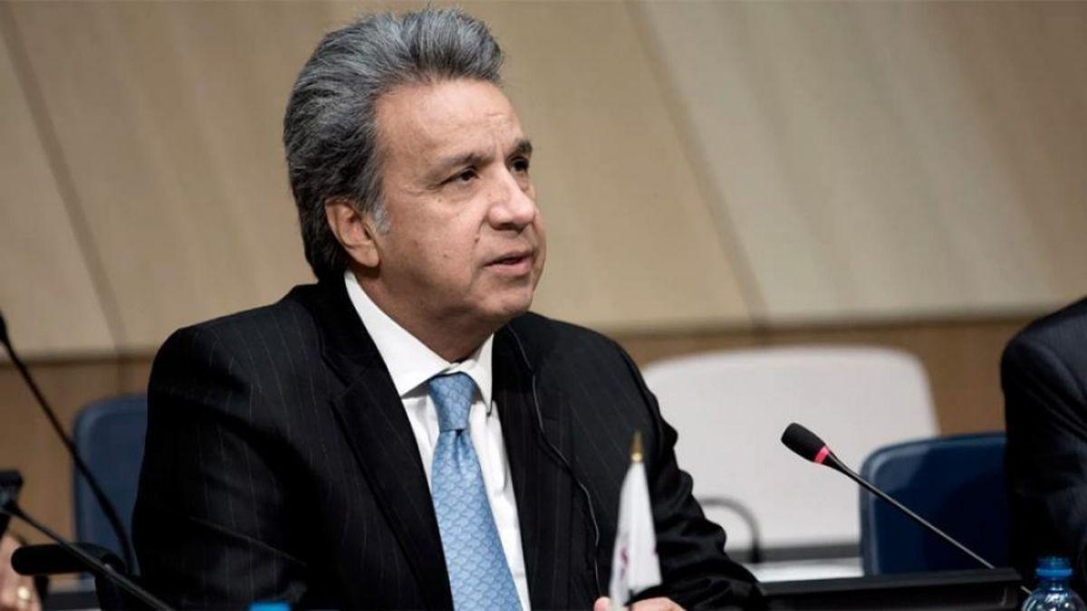 El presidente de Ecuador Lenin Moreno. Alberto Fernández generó tensión con el gobierno ecuatoriano.
