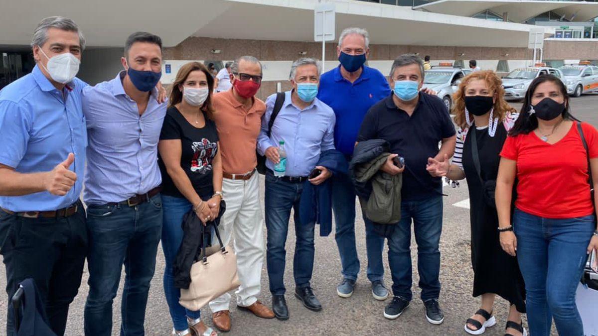 Los diputados nacionales de la UCR antes d esu viaje a Formosa arribaron a Resistencia.