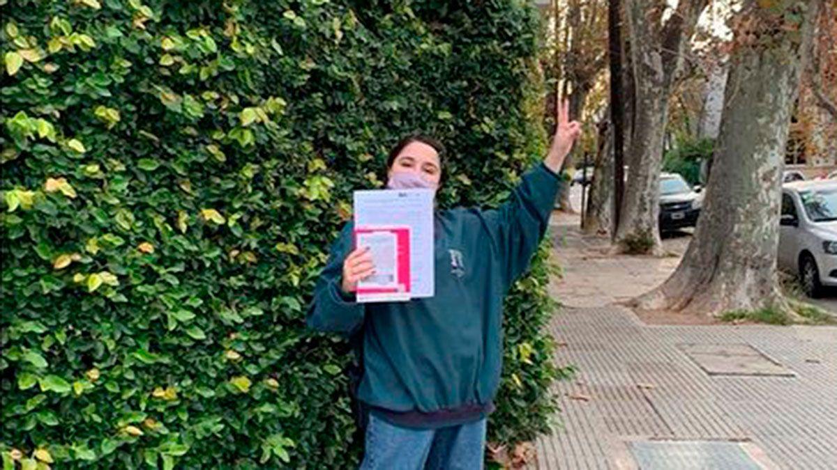 Ofelia Fernández se vacunó por ser parte del grupo de riesgo
