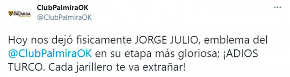 El fútbol de Mendoza despidió al Turco Jorge Julio