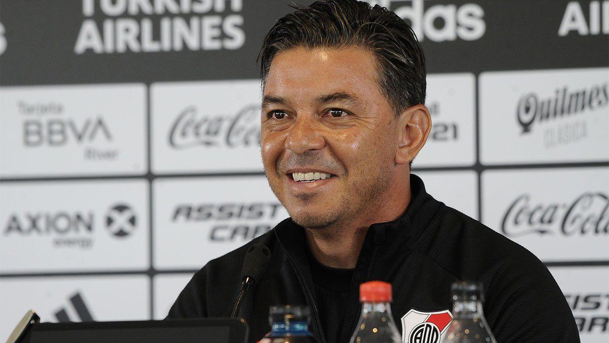 El equipo que pondría Gallardo ante Fluminense tendría sorpresas