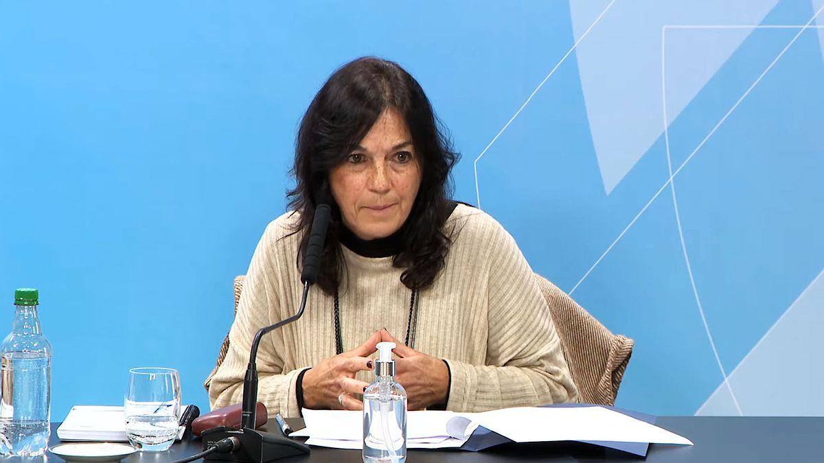 Vilma Ibarra durante la conferencia sobre el decreto que permitirá la compra de vacunas de Pfizer.