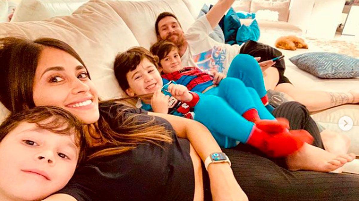 Antonela Roccuzzo y una foto familiar que enamoró a los fans