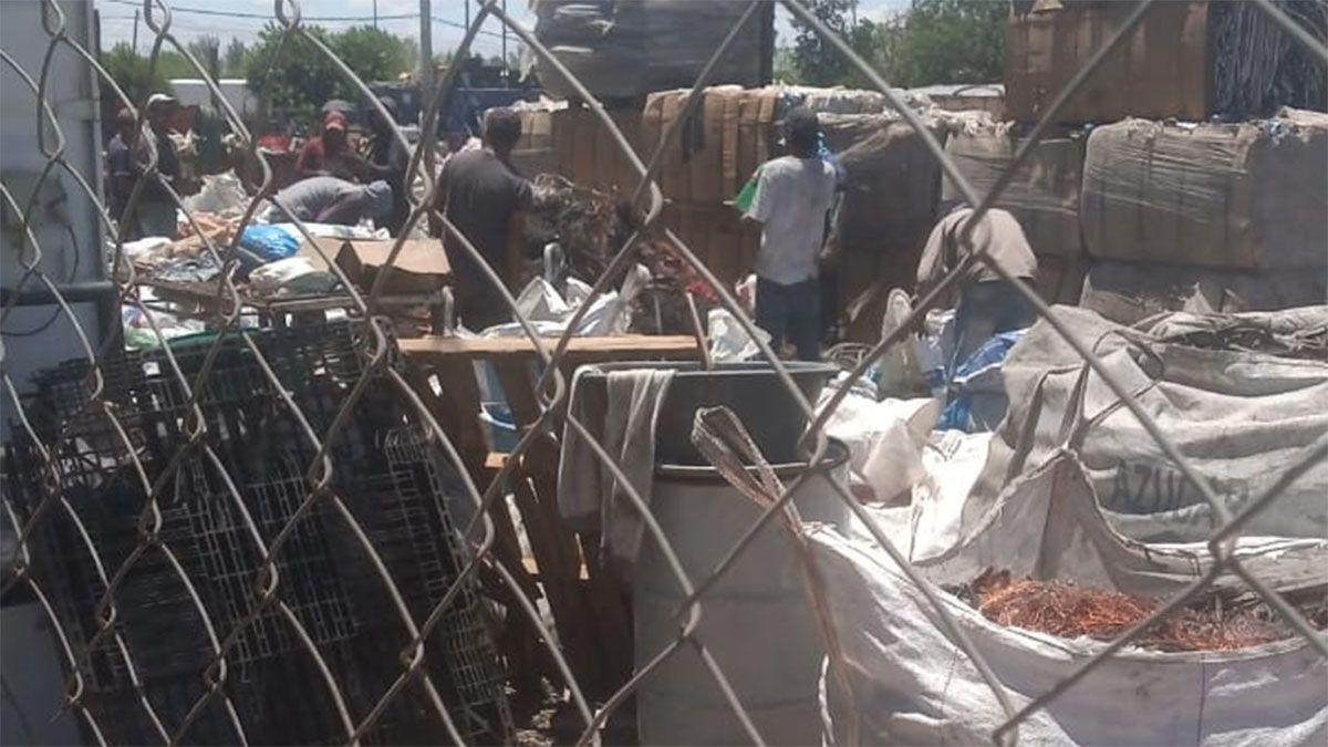 Los 20 mil kilos de cobre estaban en bolsas en un semirremolque