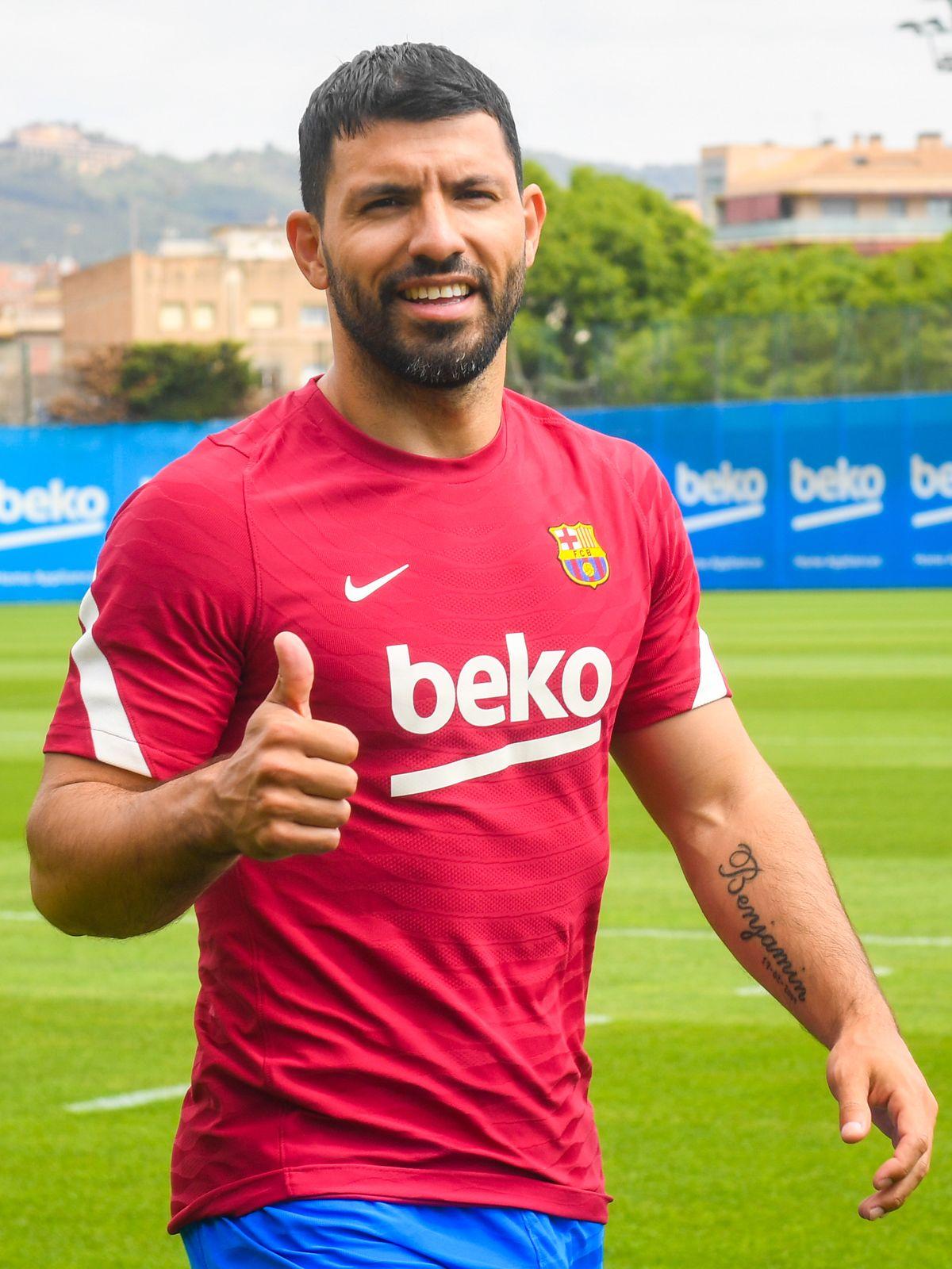 El Kun Agüero tuvo su primer día como jugador del Barcelona.