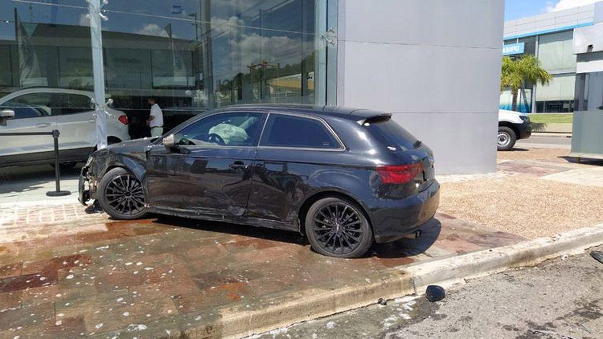 Tras perder la final con Lanús, se estrelló con su Audi