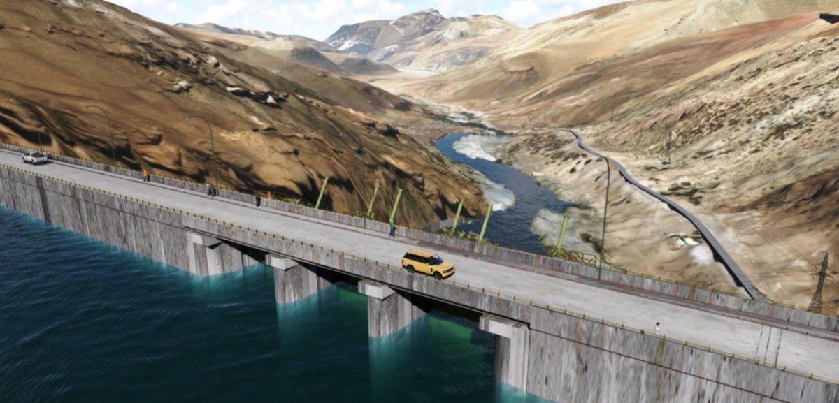 La obra de Portezuelo del Viento posee cinco componentes que son: la presa