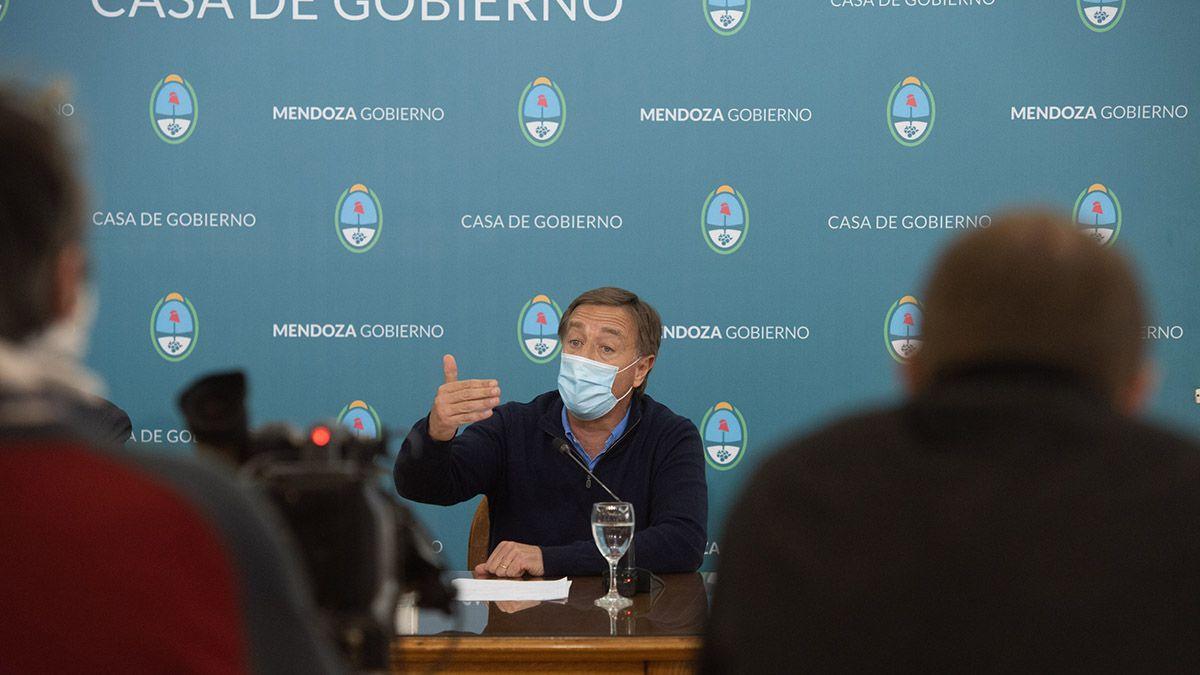 Rodolfo Suarez anuncia nuevas restricciones en Mendoza