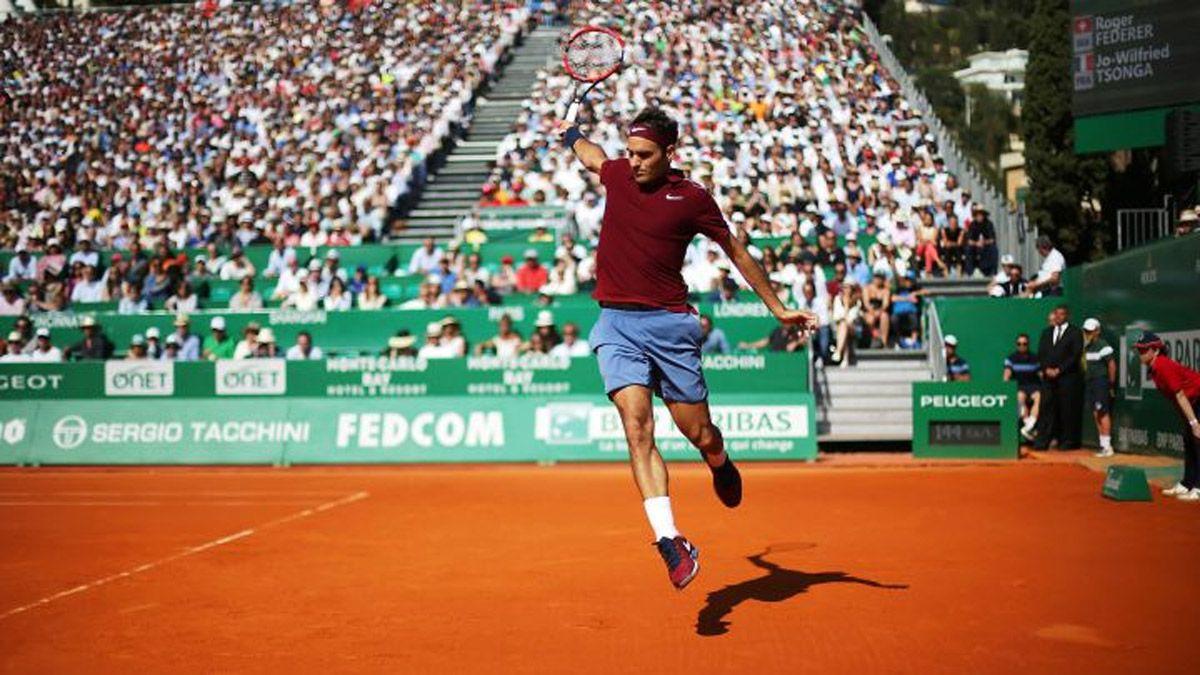 Federer se bajó de Montecarlo