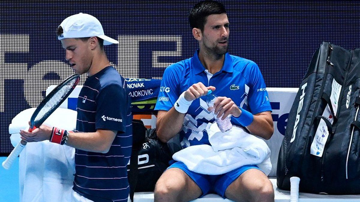 Schwartzman perdió con Djokovic en su debut en Londres