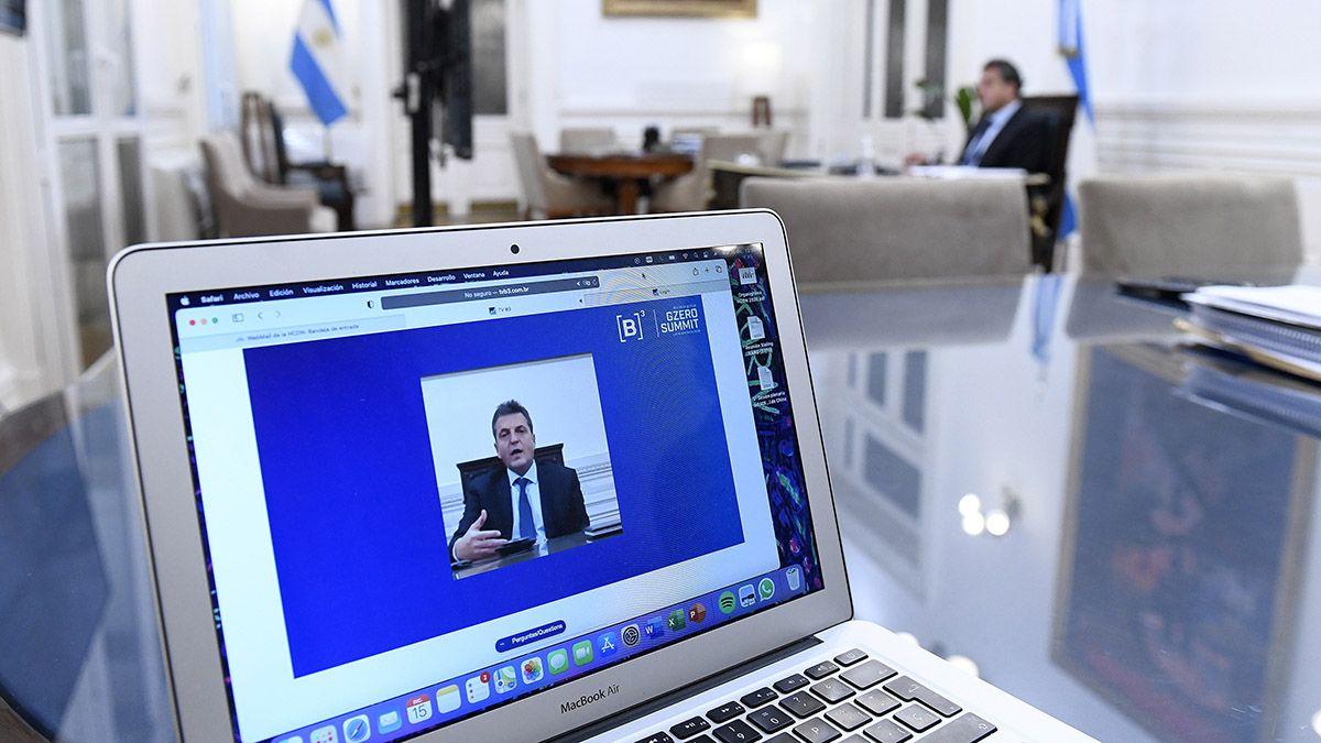 Sergio Massa y el ministro de Economía de la Nación