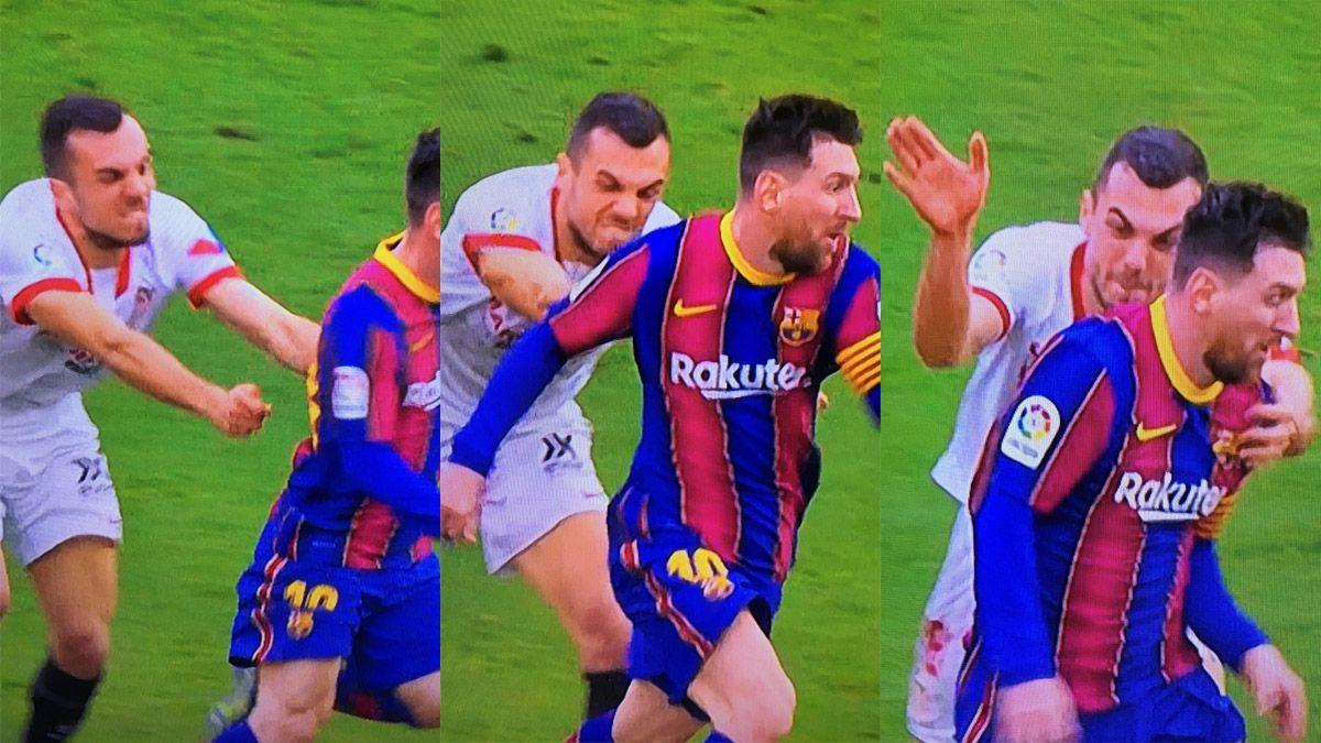 Intentó frenar a Messi y dejó una de las postales del año
