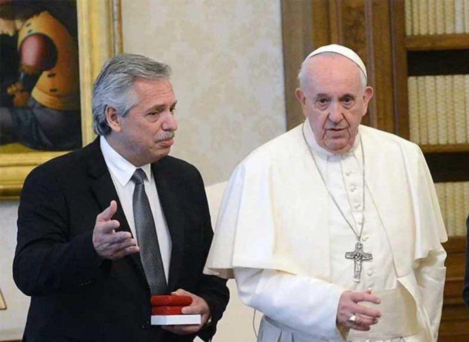 Alberto Fernández fue recibido por Francisco y