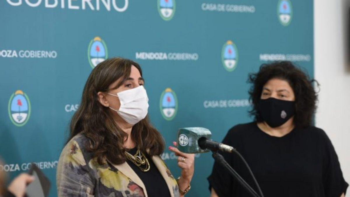 La ministra de Salud Ana María Nadal estuvo reunida en Mendoza con la Secretaria de Acceso a la Salud de Nación
