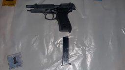 Los autores del robo en Maipú estaban fuertemente armados.