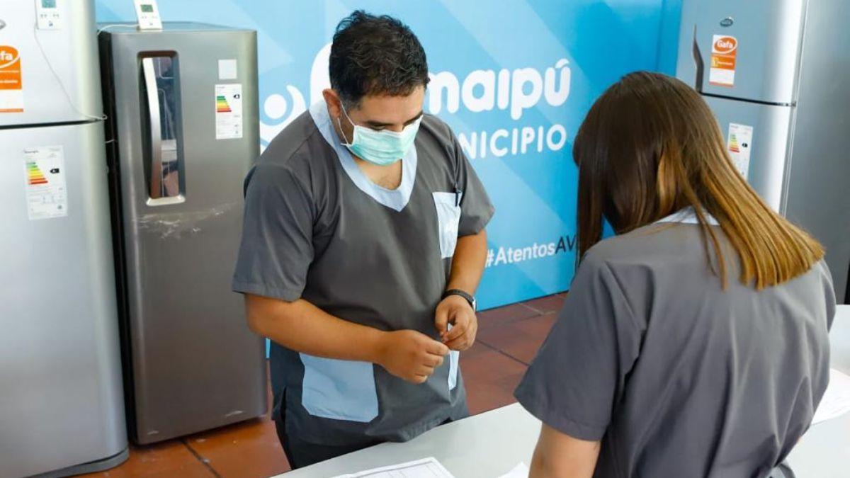 Toda la infraestructura a punto para la campaña contra el coronavirus en Maipú.