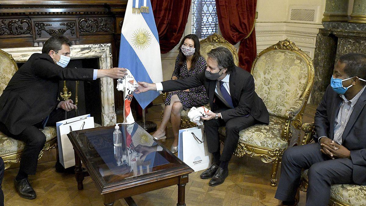 Sergio Massa se reunió con enviados del FMI.