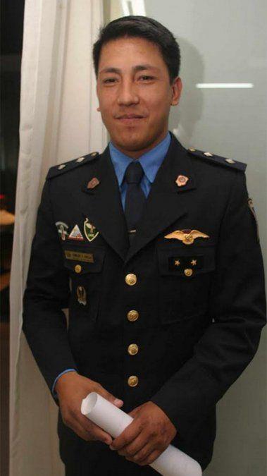 Camilo Uvilla cuando era oficial principal.