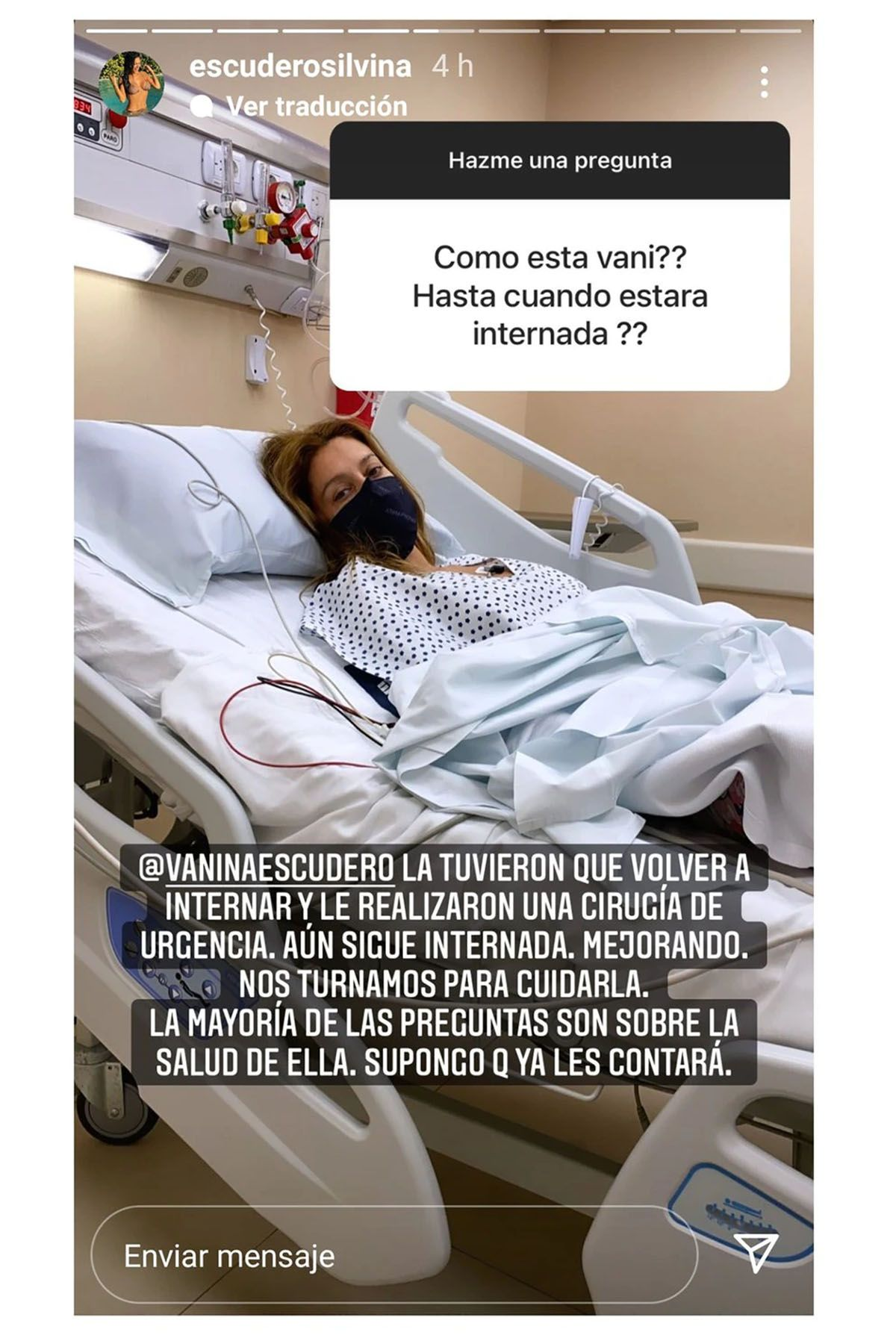 Silvina Escudero reveló que su hermana Vanina Escudero volvió a ser internada
