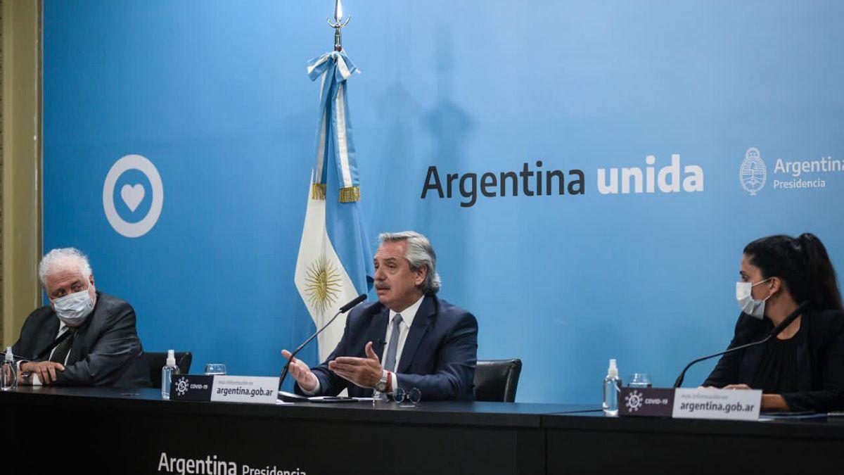 El Presidente en el anuncio de la nueva fase de cuarentena