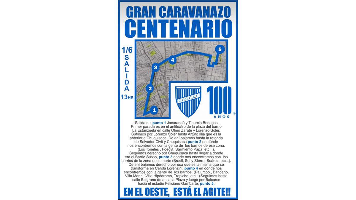 Así será la caravana por el centenario de Godoy Cruz