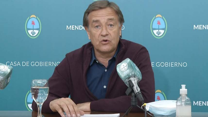 Suarez anunció las medidas que volverán a regir en Mendoza por el caso 98