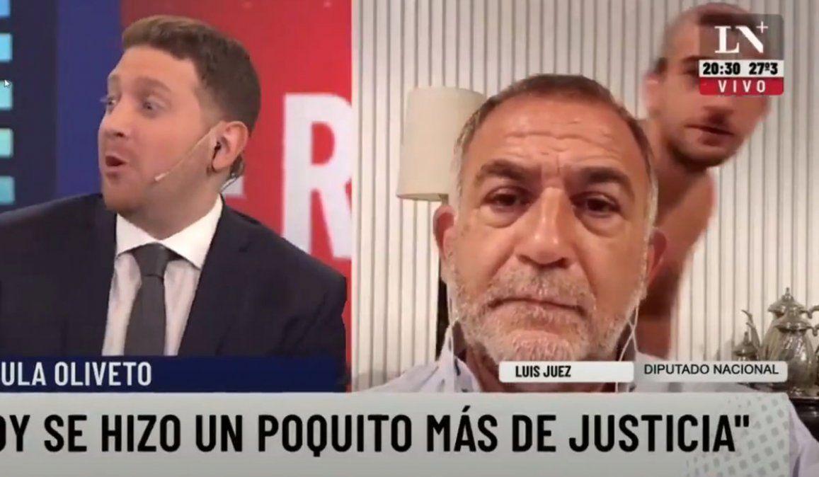 El hijo de Luis Juez ¡apareció semi desnudo en cámara!: Vaya a saber en qué estado