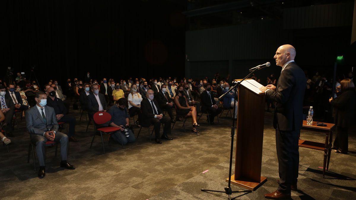 Dalmiro Garay, presidente de la Suprema Corte en el acto en el que se anunció que Mendoza iniciaba el camino hacia el expediente electrónico.