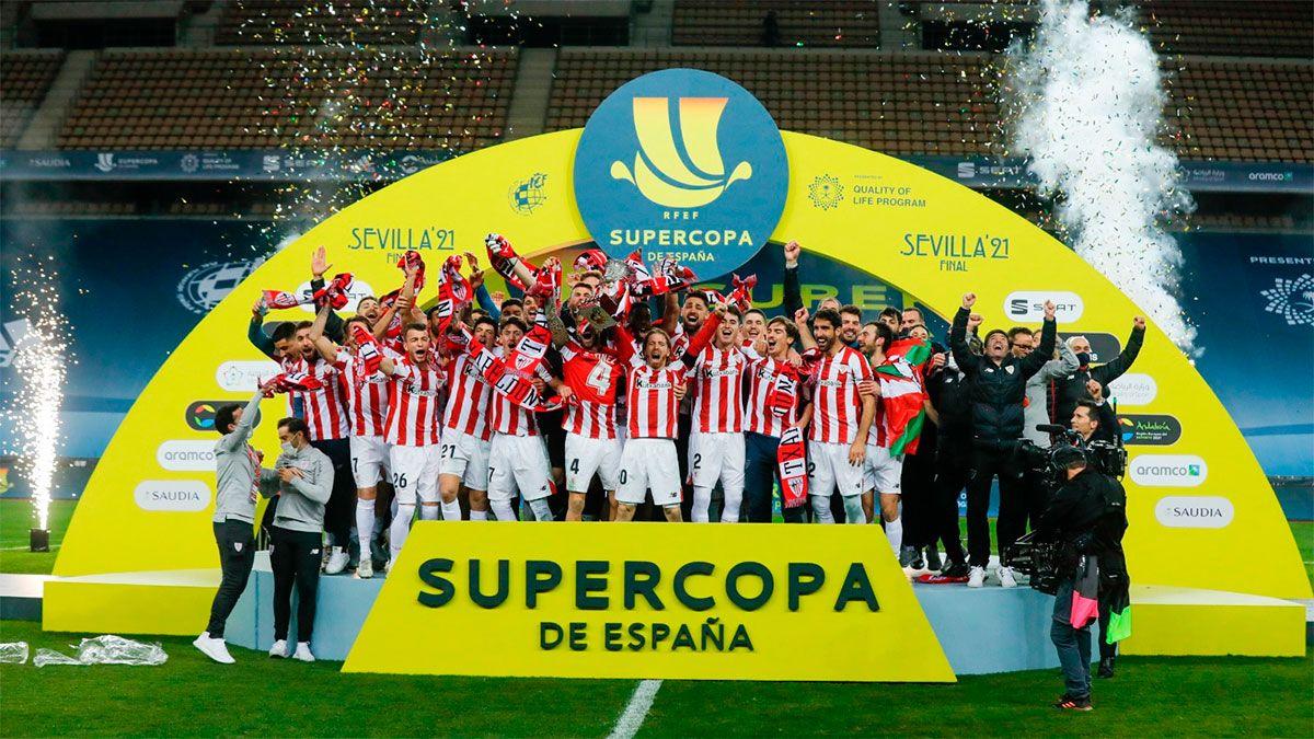 Athletic Bilbao venció a Barcelona y ganó la Supercopa