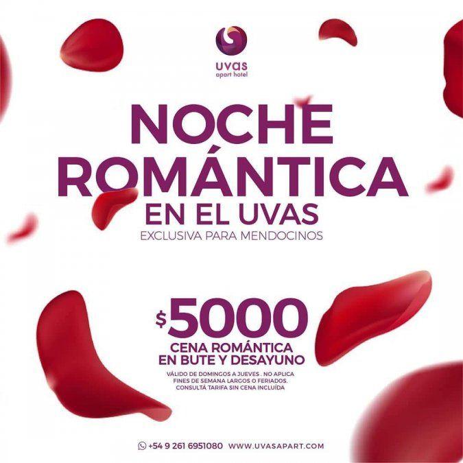 Noche romántica en Uvas Apart Hotel