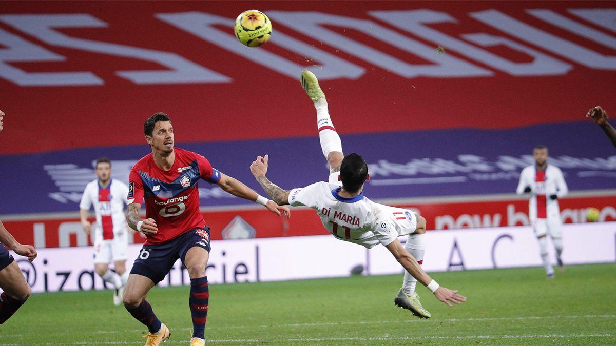 PSG, con Di María, empató con Lille