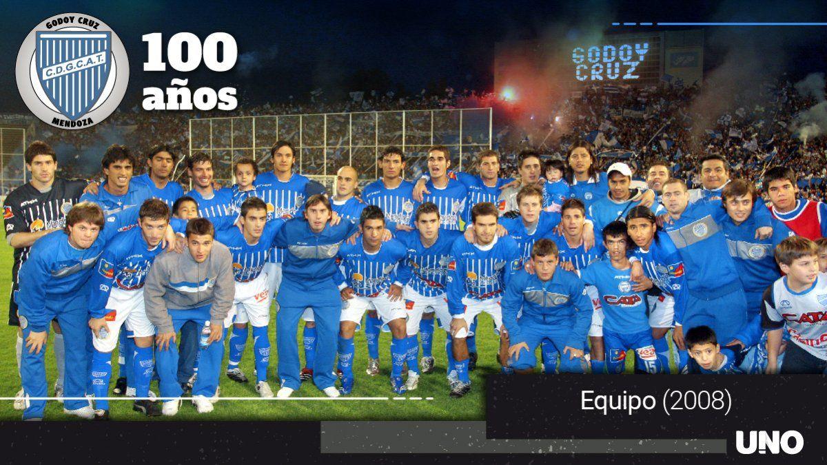 El Tomba del ascenso del 2008 a primera división.