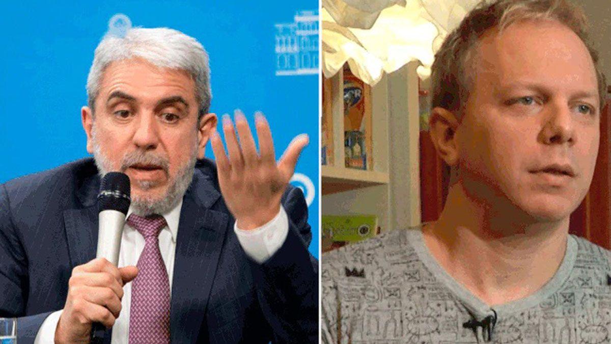 El ministro de Seguridad, Aníbal Fernández, fue acusado de amenazar al dibujante Nik.