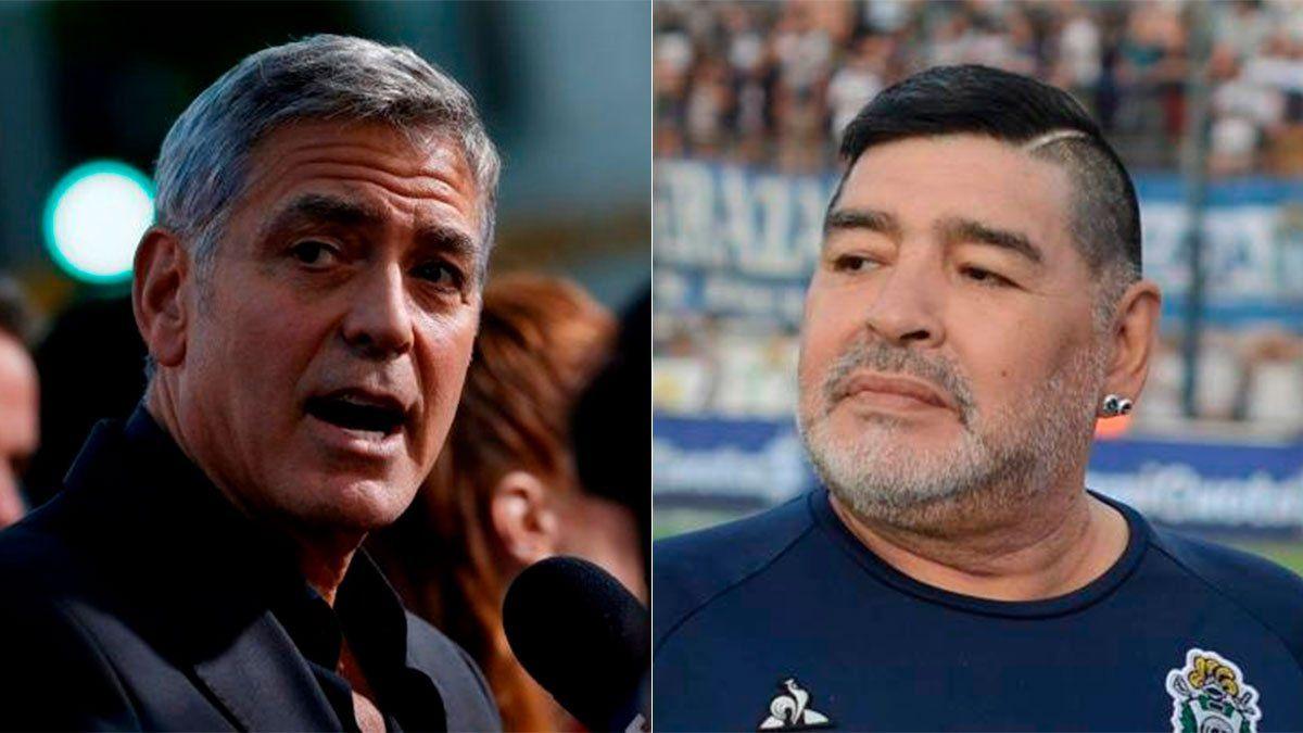 George Clooney y una sorprendente confesión sobre Maradona