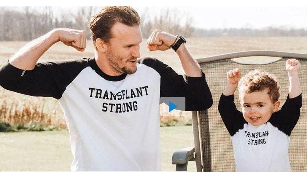 Historia de vida. Le donó parte de su hígado a su sobrinito y le salvó la vida.