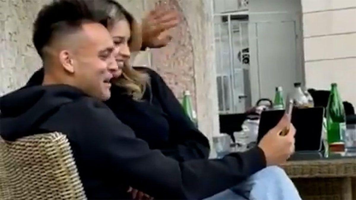 El festejo íntimo de Lautaro Martínez tras ganar el Scudetto