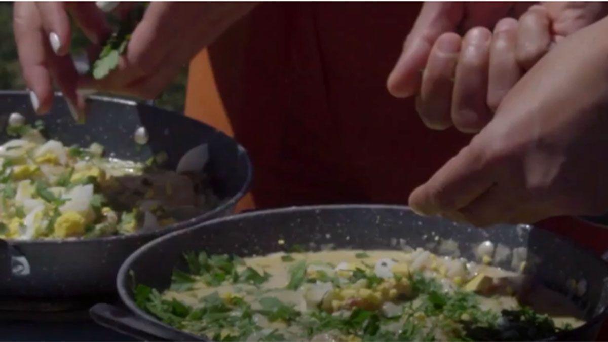 Receta: Mero a la vasca con vegetales de estación