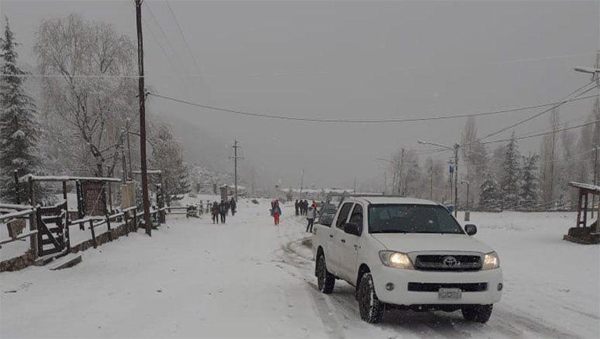 Alerta meteorológica por nieve y lluvias en Mendoza