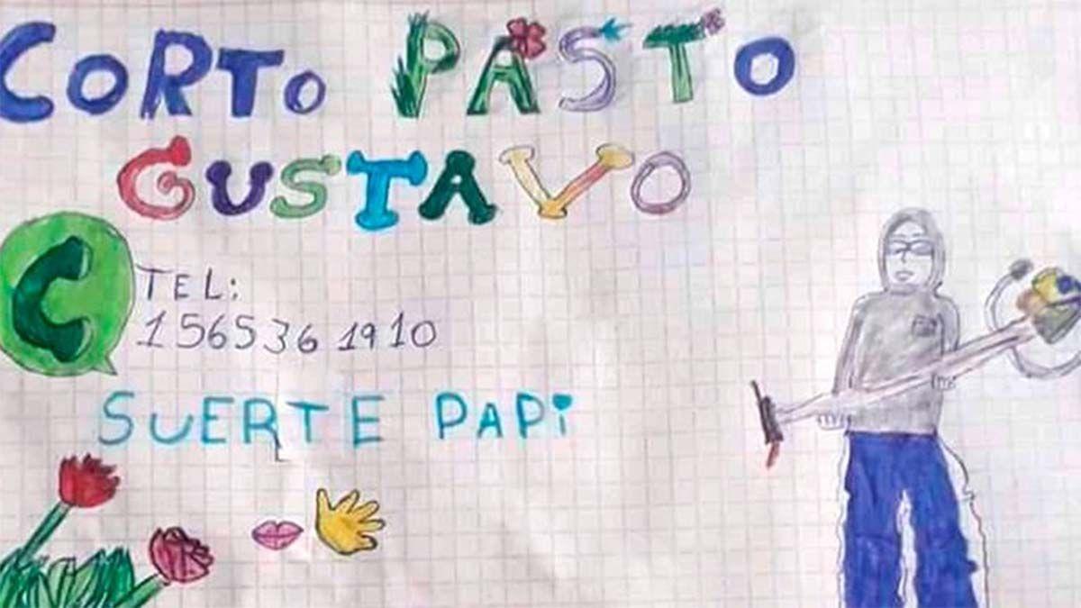 Suerte papi: el dibujo de una nena de 9 años que tuvo un inesperado final