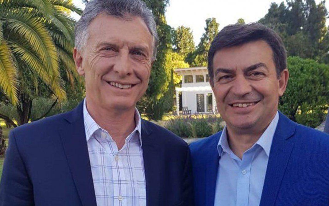 Omar De Marchi con Mauricio Macri.